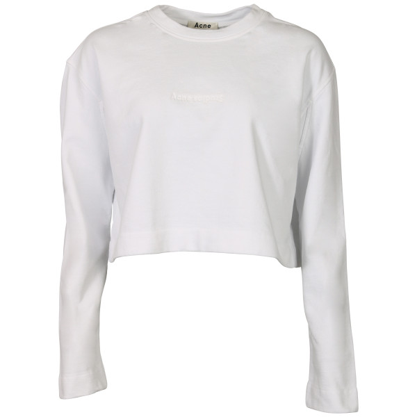 Women's Acne Studios Cropped Sweater Odice white