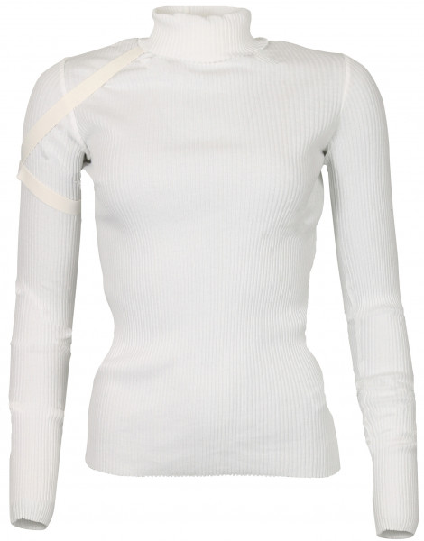 Women's Helmut Lang Cotton Rib Turtleneck Offwhite