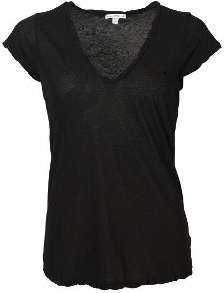 Women's James Perse T-Shirt V Neck black