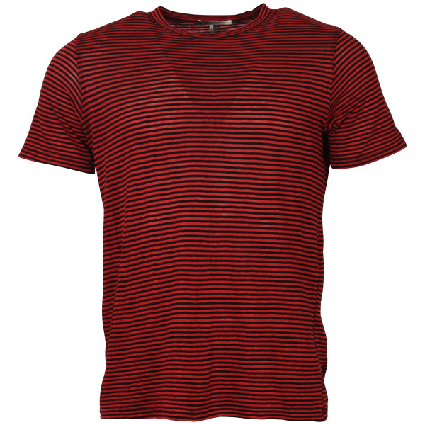 Men's Isabel Marant T-Shirt Leon Red/Black Stripe