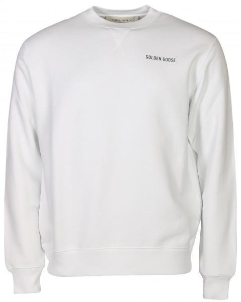 Men's Golden Goose Sweatshirt Golden White Printed