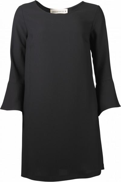 Shirtaporter Kleid Trompetenärmel schwarz