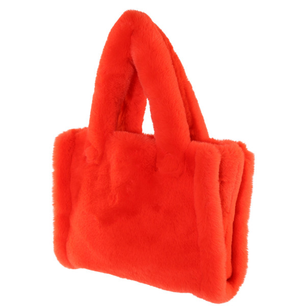 Women's Stand Studio Fake Fur Bag Liz Fluo Orange