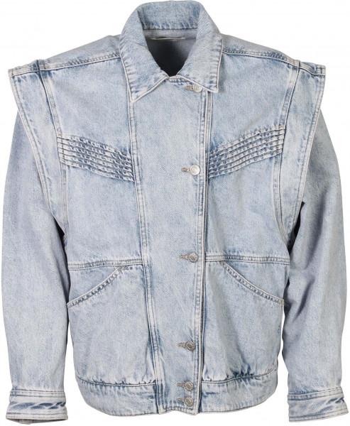 Women's Isabel Marant Etoile Denim Jacket Harmon Lilac