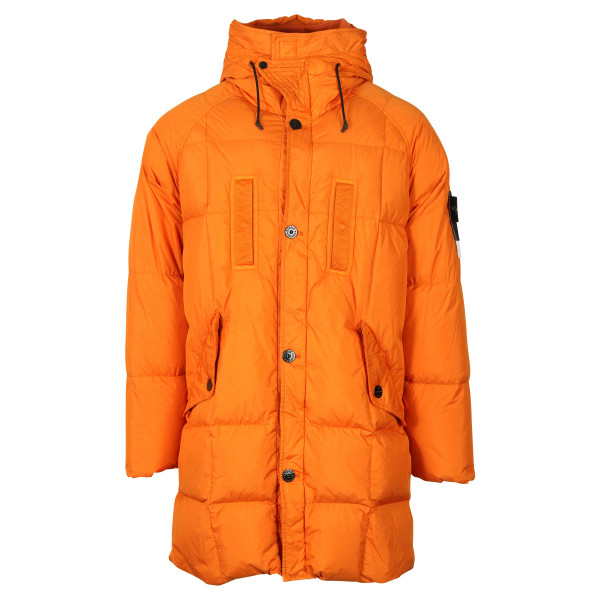 Men's Stone Island Down Parka Orange