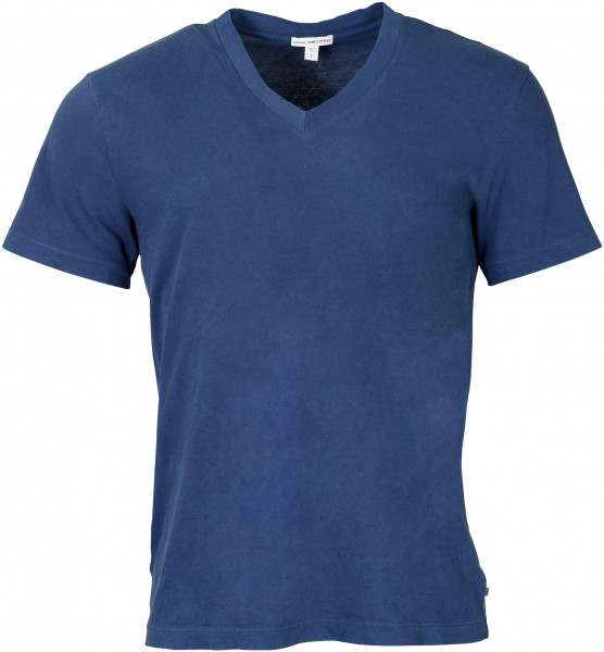Men's James Perse T-Shirt V-Neck Mid Blue