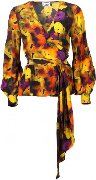 Women's Ganni Wrap Blouse Multicolour