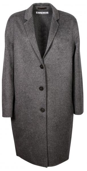 Women's Acne Studios Coat Avalon Double Grey Melange