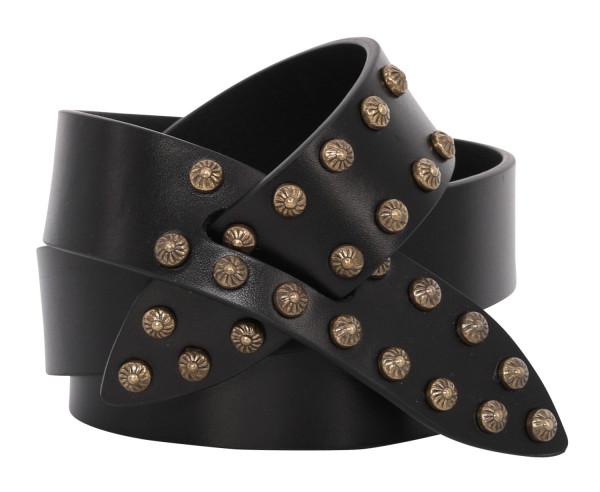 Women's Isabel Marant Belt Lelo Black With Studs