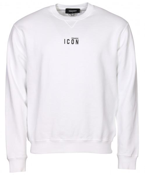 Men's Dsquared Sweatshirt White/Black Printed