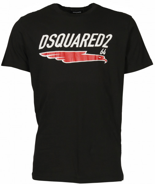 Men's Dsquared T-Shirt Black Printed
