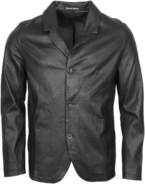 Men's Hannes Roether Leather Jacket Black