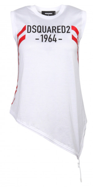 Women's Dsquared Top White Printed