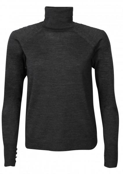 Women's Acne Studios Turtle Knit Sweater Kamala Dark Grey