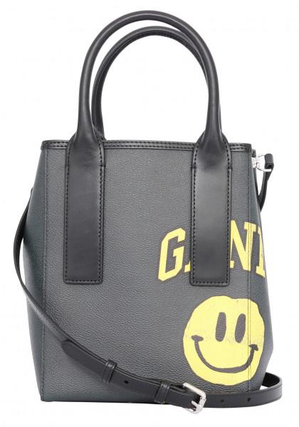 Women's Ganni Tote Bag Phantom Yellow Darkgrey Black