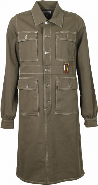 Women's Ganni Pocket Dress Khaki