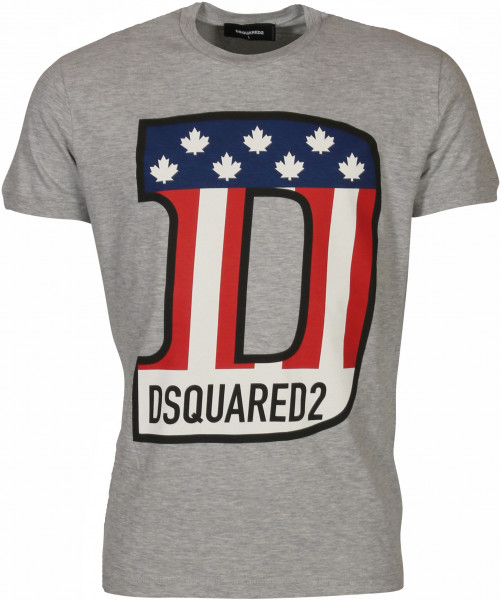 Men's Dsquared T-Shirt Heathergrey Printed
