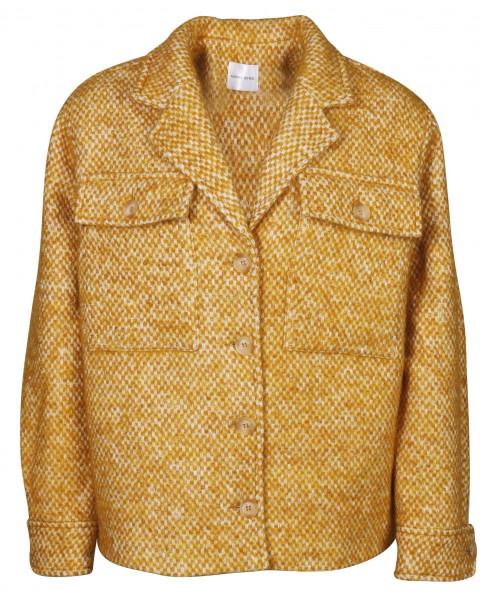 Women's Anine Bing Wool Jacket Gold/Offwhite