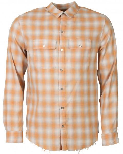 Men's Iro Shirt Sprinkle Orange Check