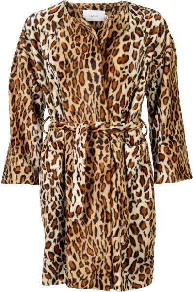STAND Fake Fur Mantel Leo