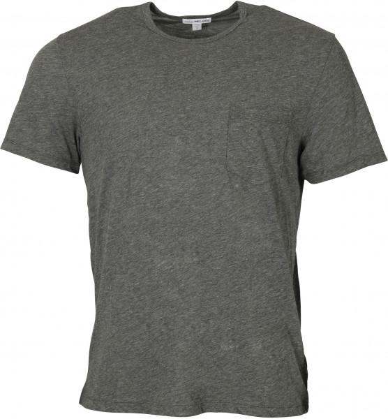 Men's James Perse Pocket T-Shirt Grey Melange