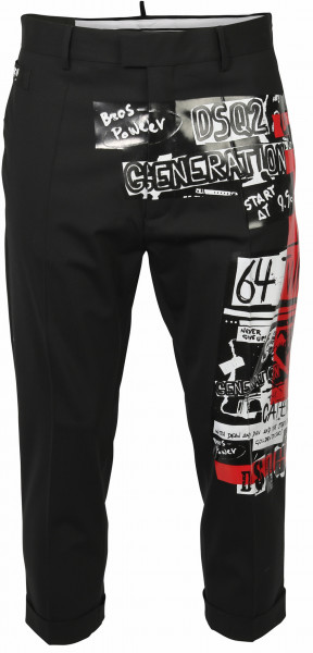 Women's Dsquared Pant Black Red Printed