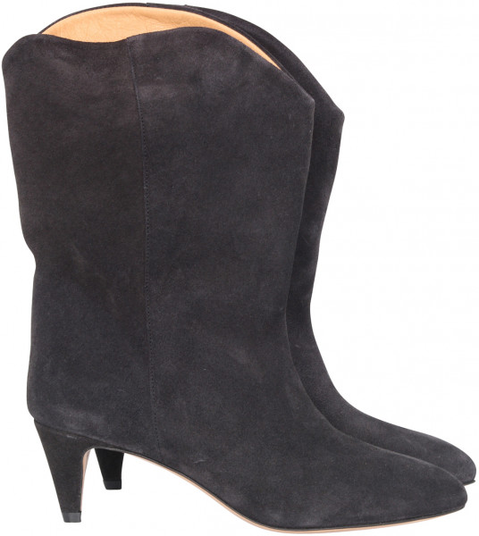 Women's Isabel Marant High Boots Dernee Faded Black Suede