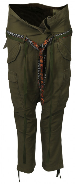 Women's R13 Rolled Waist Cargopant Olive