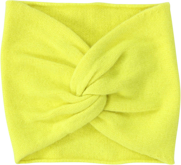 Women's Absolut Cashmere Turban Fluo Yellow