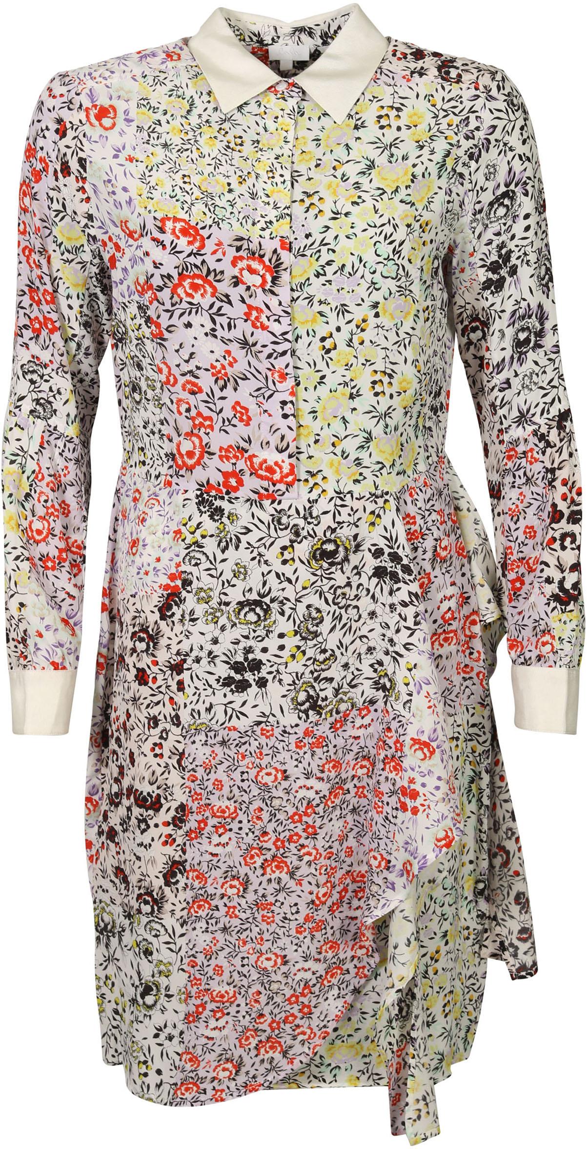 women's lala berlin dress dionne oasis patchwork flowers printed