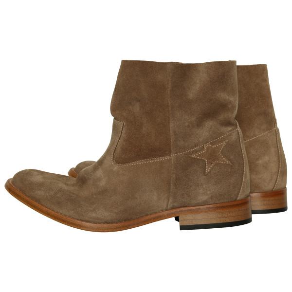 Women's Golden Goose Boots beige suede