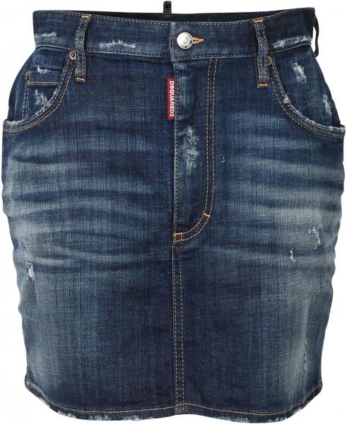 Women's D2 Dsquared Denim Skirt blue