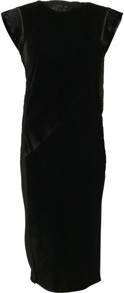 Women's Helmut Lang Velvet Shift Dress Black