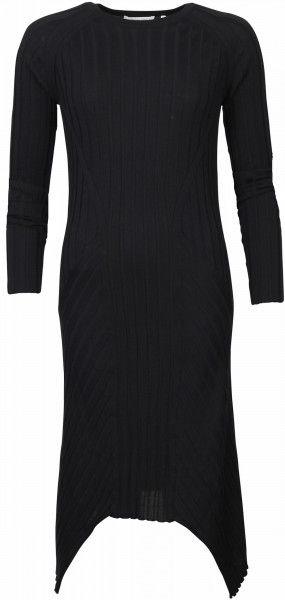 Women's Helmut Lang Wool Rib Dress Black