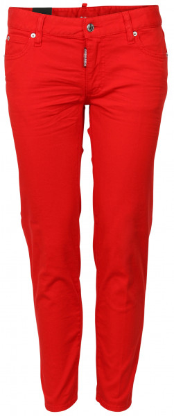 Women's Dsquared D2 Jeans Medium Waist Cropped Twiggy red