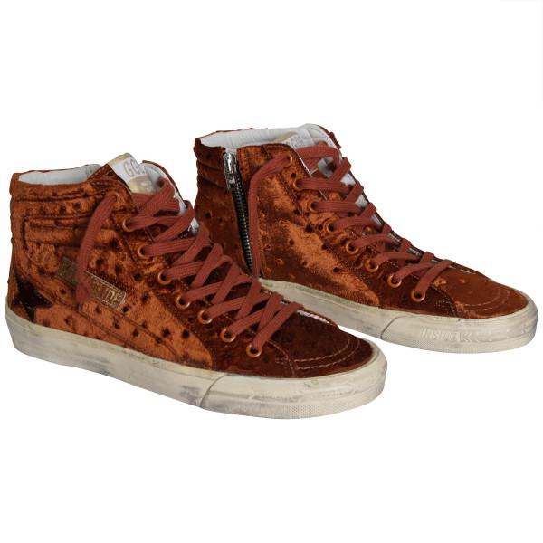 Women's Golden Goose Sneakers Slide copper velvet