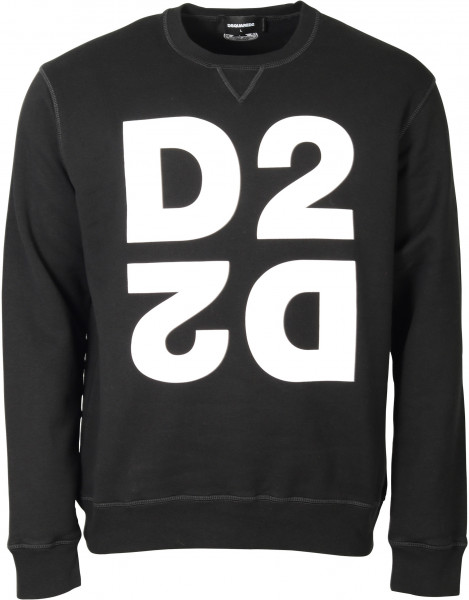 Men's Dsquared Sweatshirt Black/White Printed