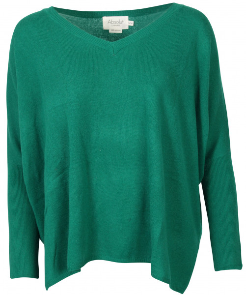 Women's Absolut Cashmere V-Neck Pullover Bottle Green