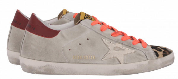 Women's Golden Goose Sneaker Superstar Suede Leopard Horsy Toe