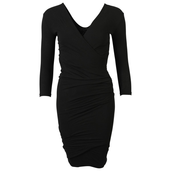 James Perse Wrap Dress schwarz