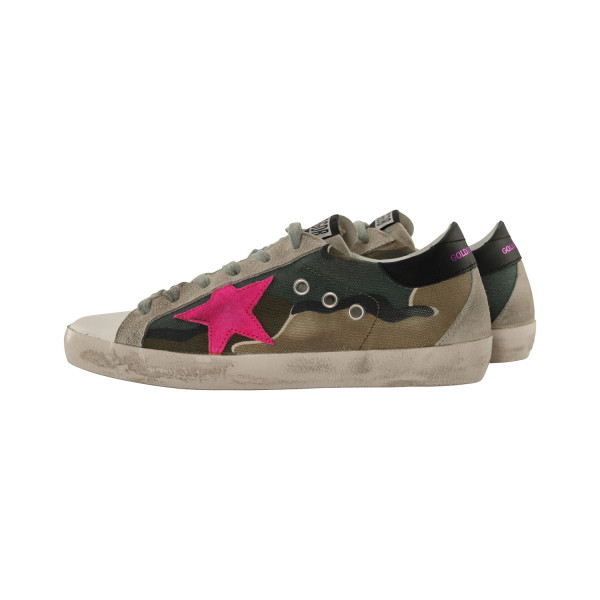 Women's Golden Goose Sneaker Superstar Camo/Fuxia