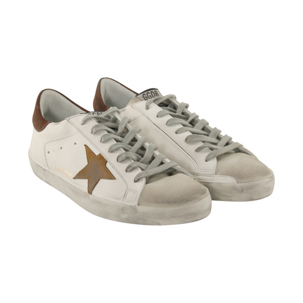 Men's Golden Goose Sneaker Superstar White/Brown