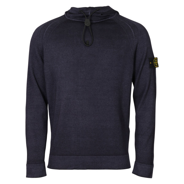 Men's Stone Island Knit Hoodie Purple