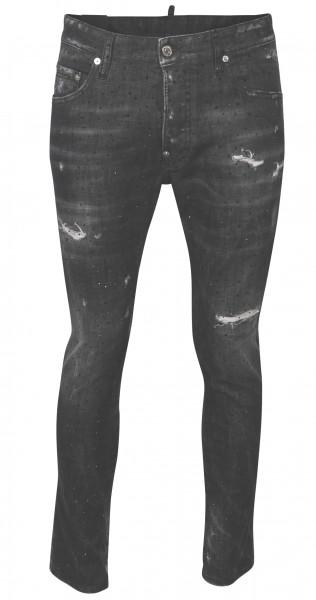 Men's Dsquared Jeans Skater Sparkling Black Washed