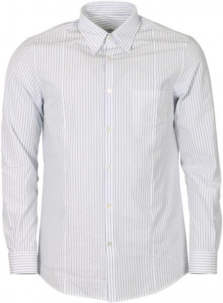 Men's Golden Goose Shirt Golden White/Blue Stripes