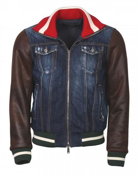 Men's Dsquared Jacket Denim-Leather