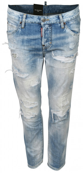 Women's Dsquared Jeans Cool Girl Cropped Light Blue Washed
