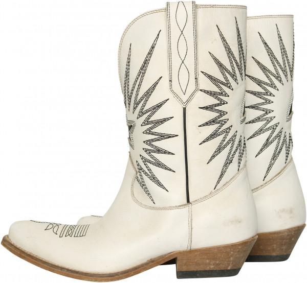 Women's Golden Goose Cowboy Boots White/Black