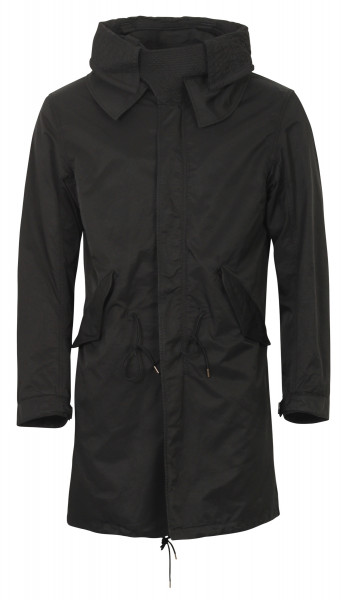 Ten C Military Parka Kapuze schwarz