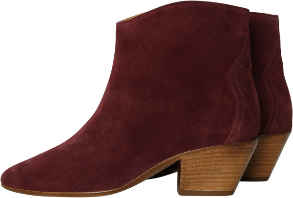 Women's Isabel Marant Dacken Boots Aubergine